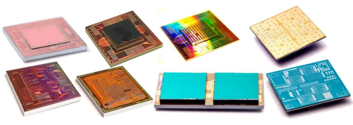 Examples of 3D stacked test chips at imec
