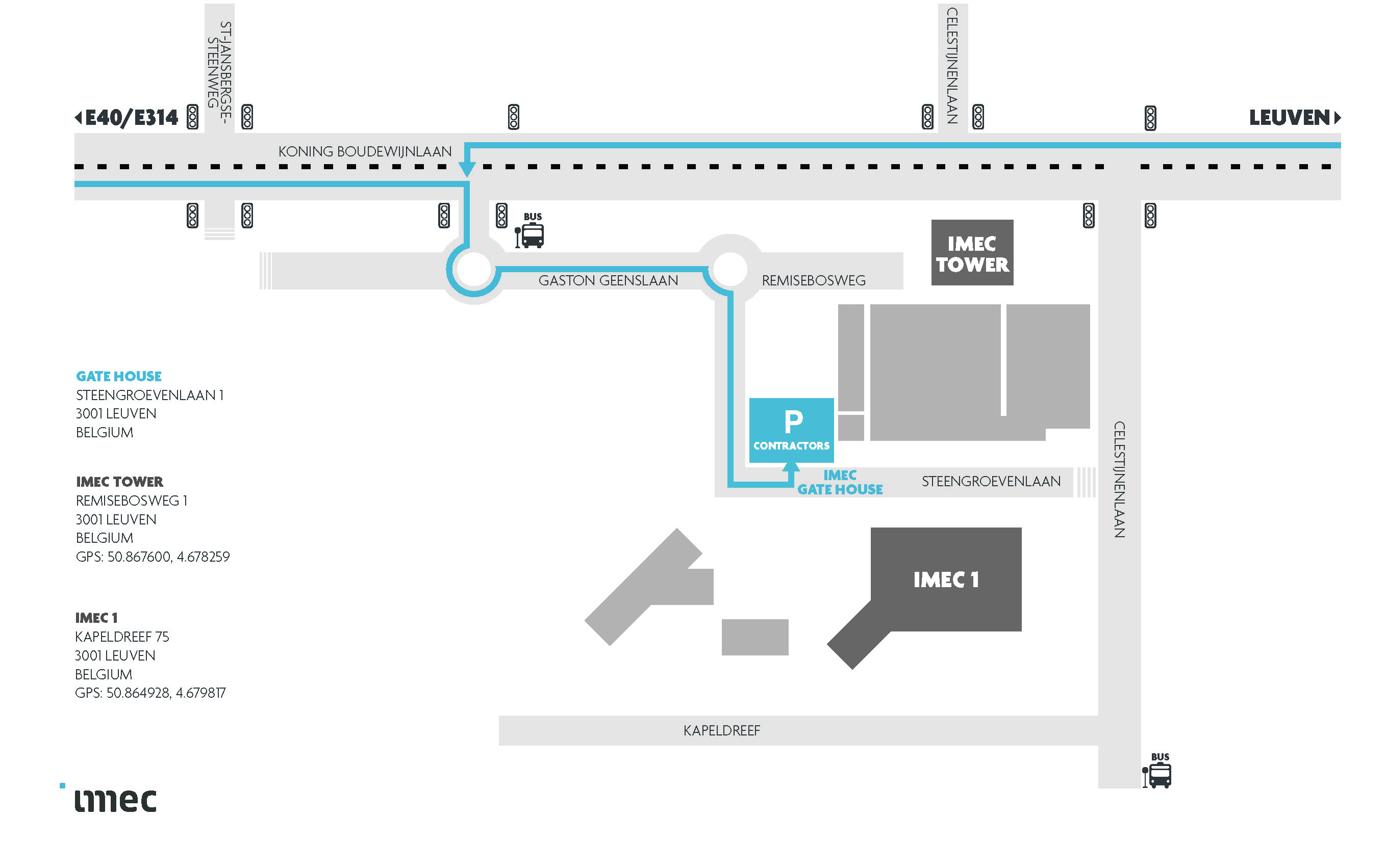 Access to imec - map