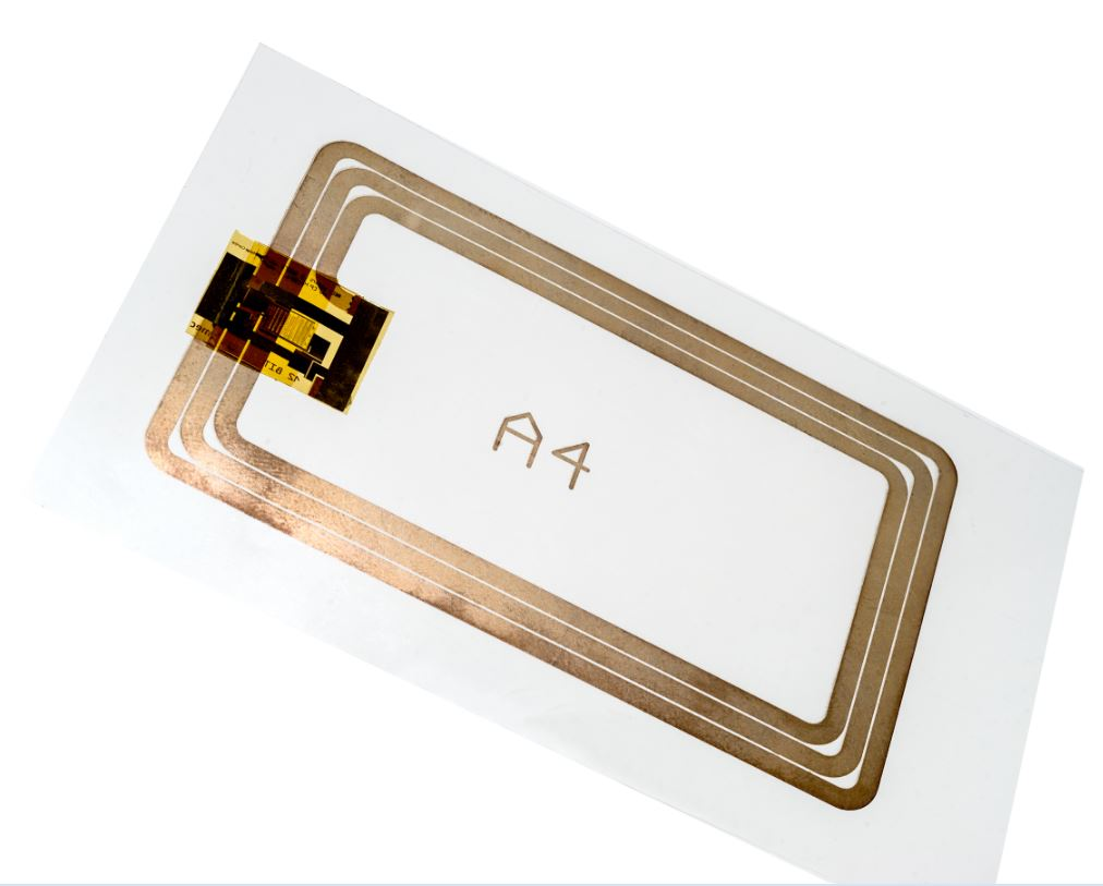 Flexible RFID chip with printed antenna