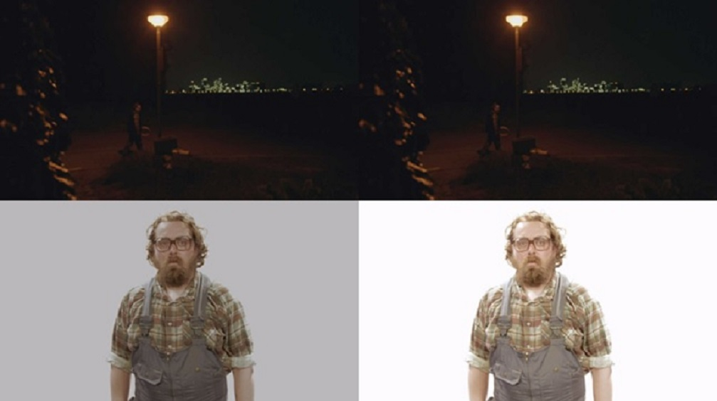The imec software leaves darker settings basically undisturbed (above) in the conversion from SDR (left) to HDR (right) and makes light settings extra bright (below).