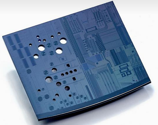 test chip containing imec's new MOMS-based pressure sensor