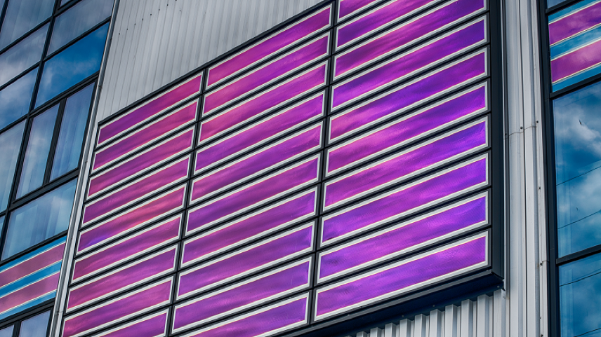 BIPV façade at ENGIE Fabricom, Antwerp