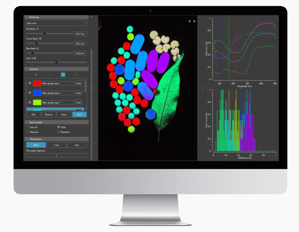 Hyperspectral imaging software imec